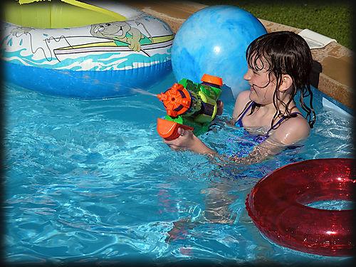 Sarah in water