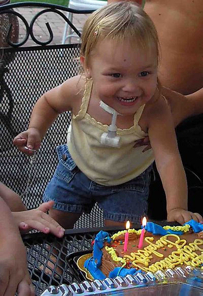 Elizabeth and cake