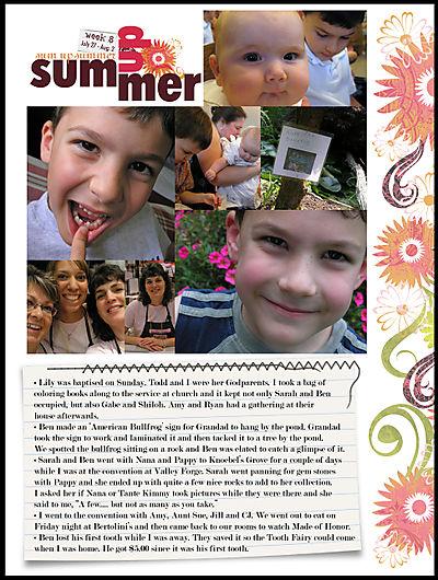 Sum up summer album week 8