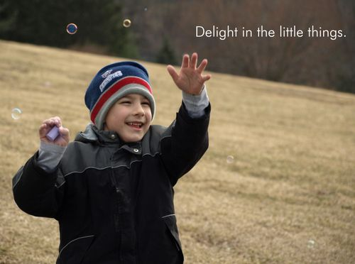 Delight in the little things