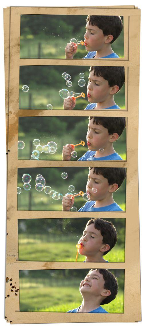 Ben blowing bubbles