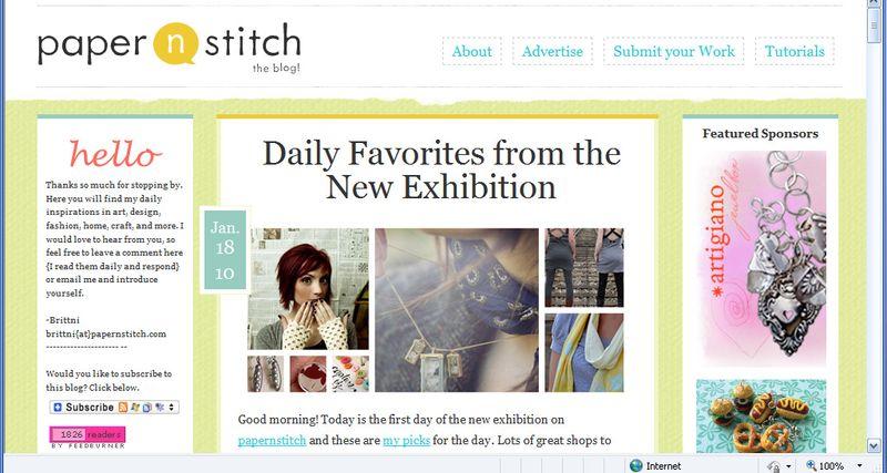 Papernstitch front page
