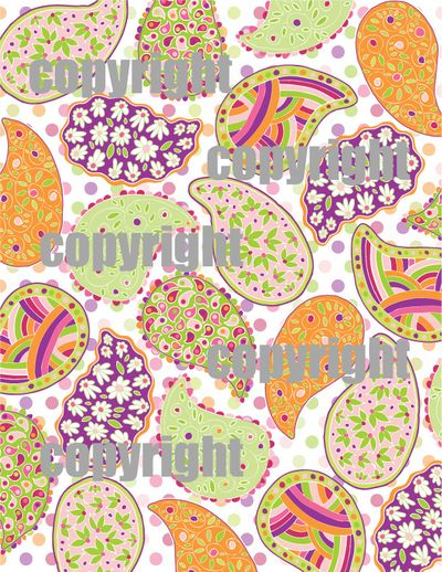Paisley patterned paper copy