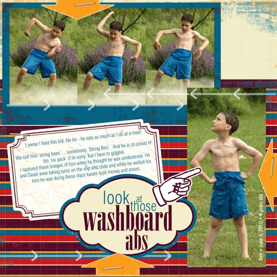 Look at those washboard abs