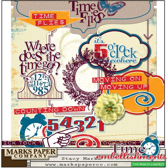 Time embellishments digi kit