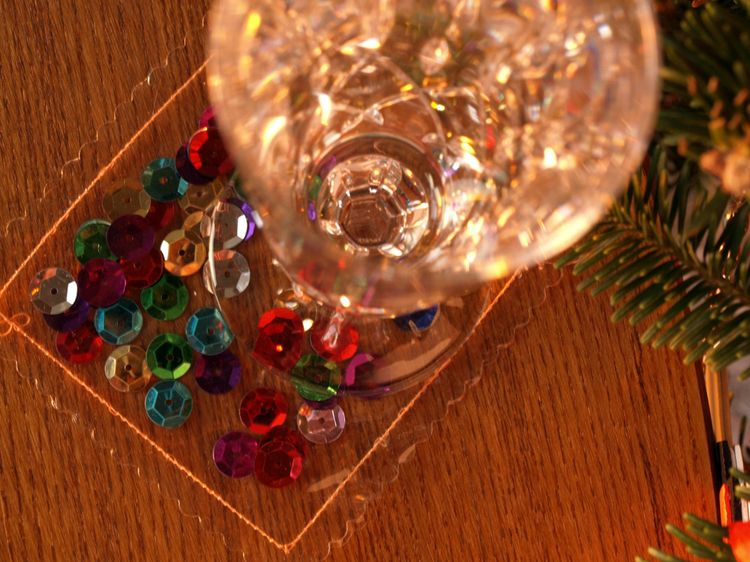Holiday drink coaster 1
