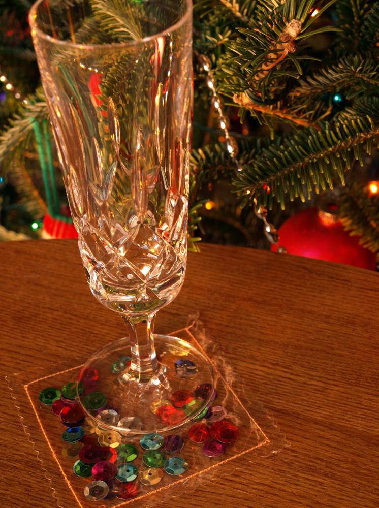 Holiday drink coaster 3