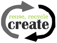 Reuse recycle create logo
