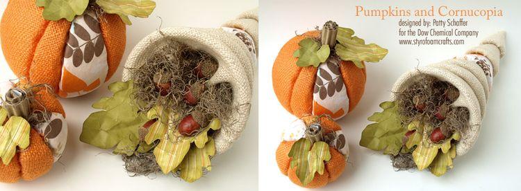 Pumpkins and cornucopia