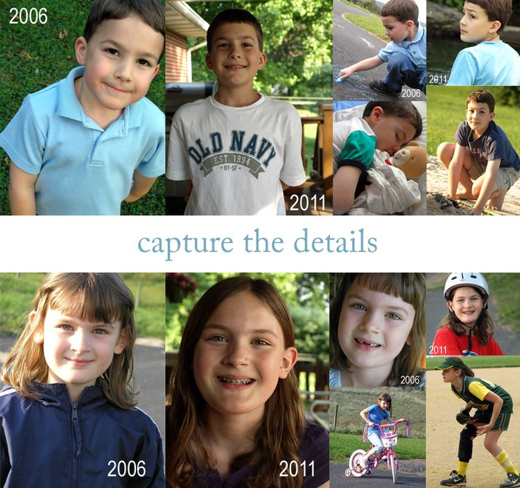 Sarah and ben 5 year photo montage