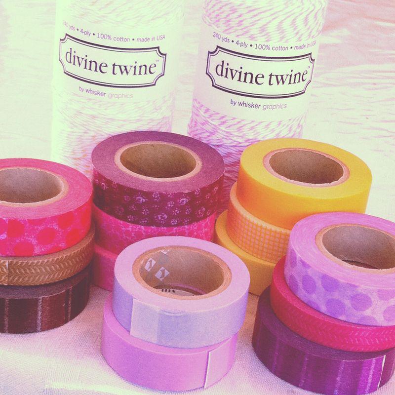 Pretty tape and divine twine