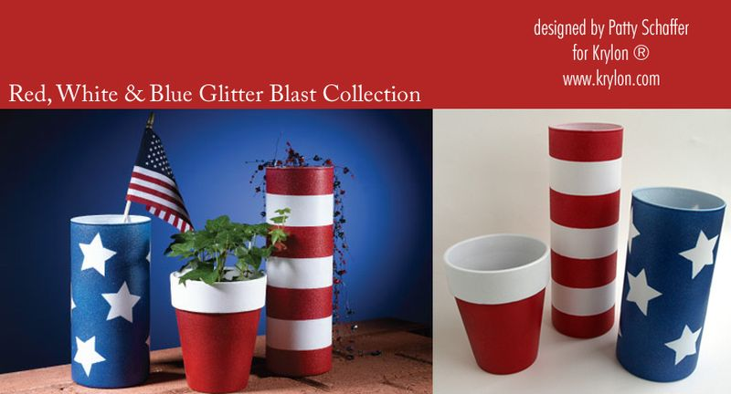 Red white and blue glitter blast collection