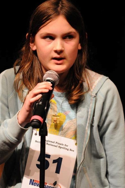 Sarah in spelling bee