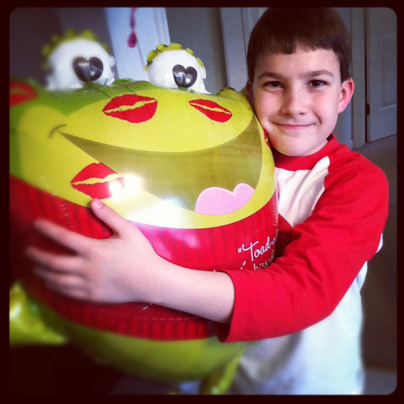 Ben with balloon