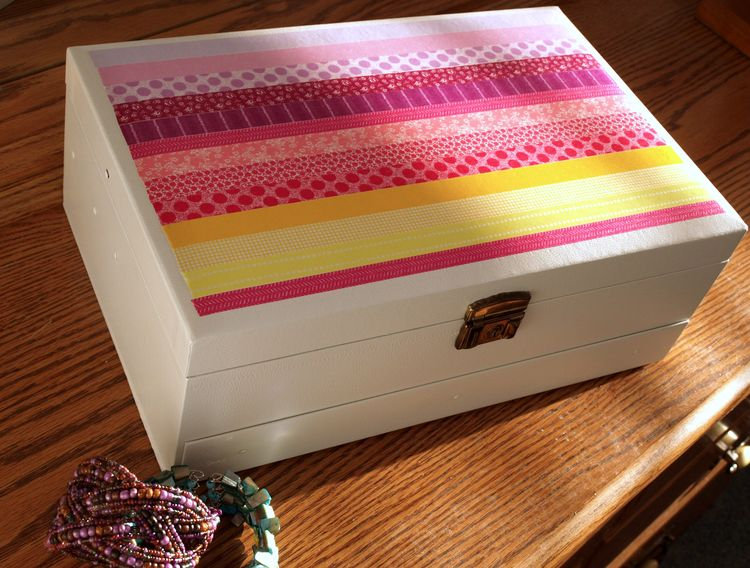 Jewelry box makeover for Old jewelry box makeover