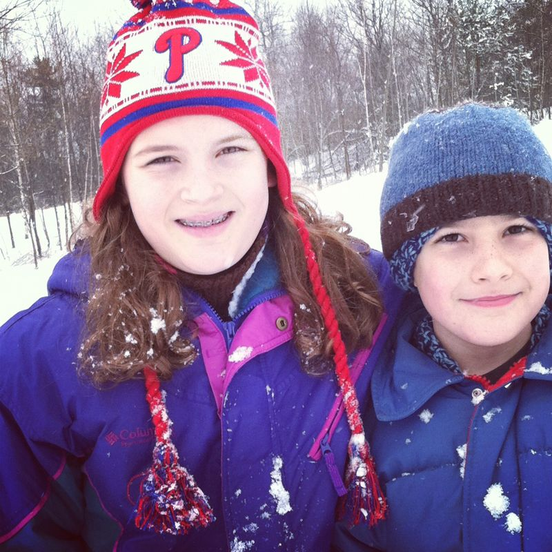 Sarah and ben in the snow
