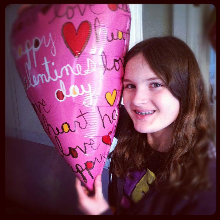 Sarah with balloon