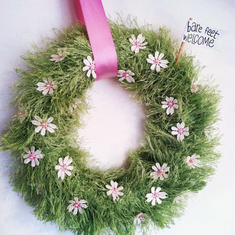 Baby grass wreath