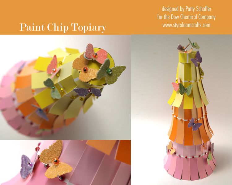 Paint chip topiary