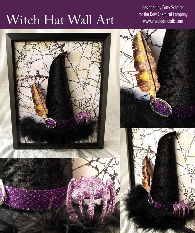 Witch hat wall art