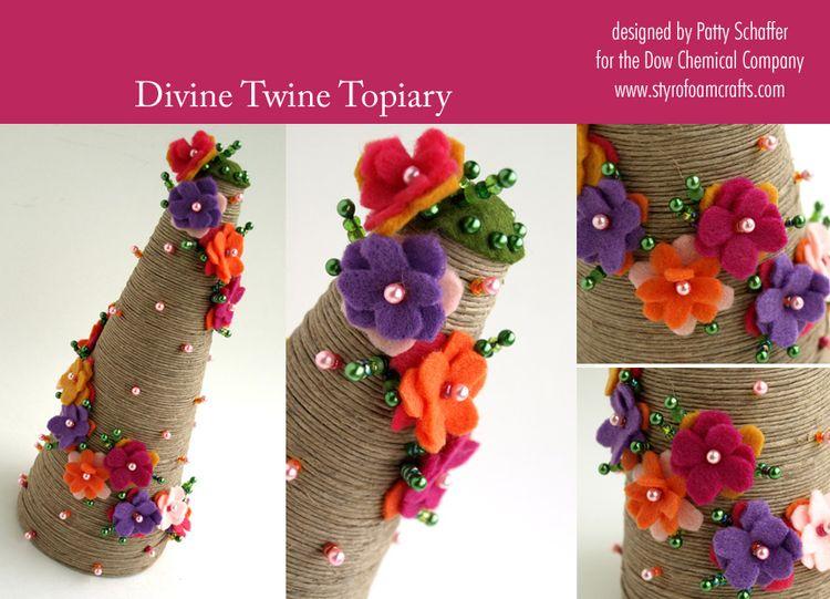 Divine twine topiary