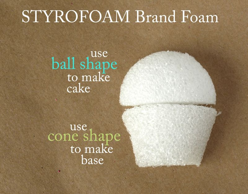 Foam shapes for cupcake card