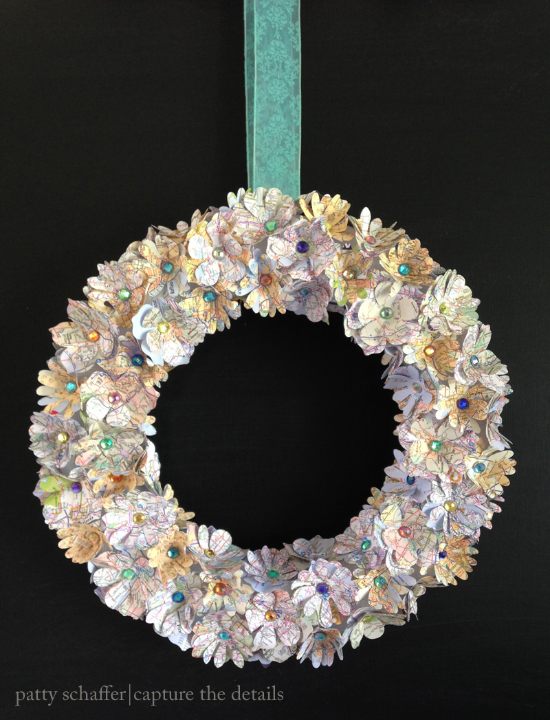 Patty schaffer map wreath