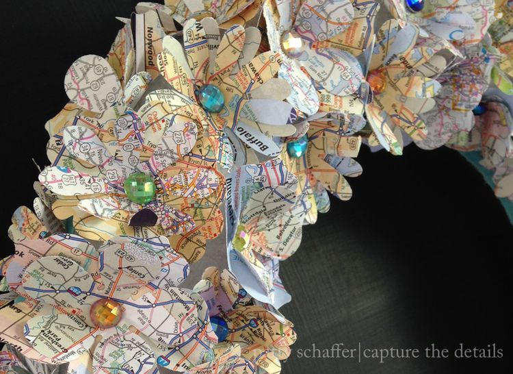 Patty schaffer map wreath detail 2