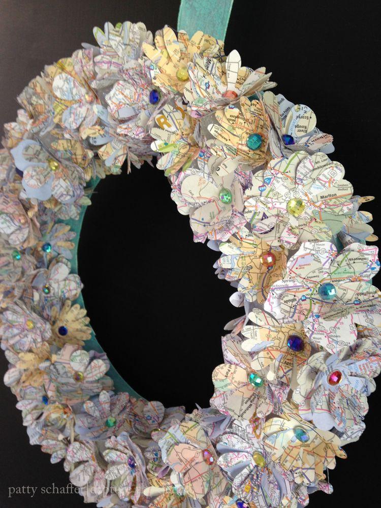 Patty schaffer map wreath detail