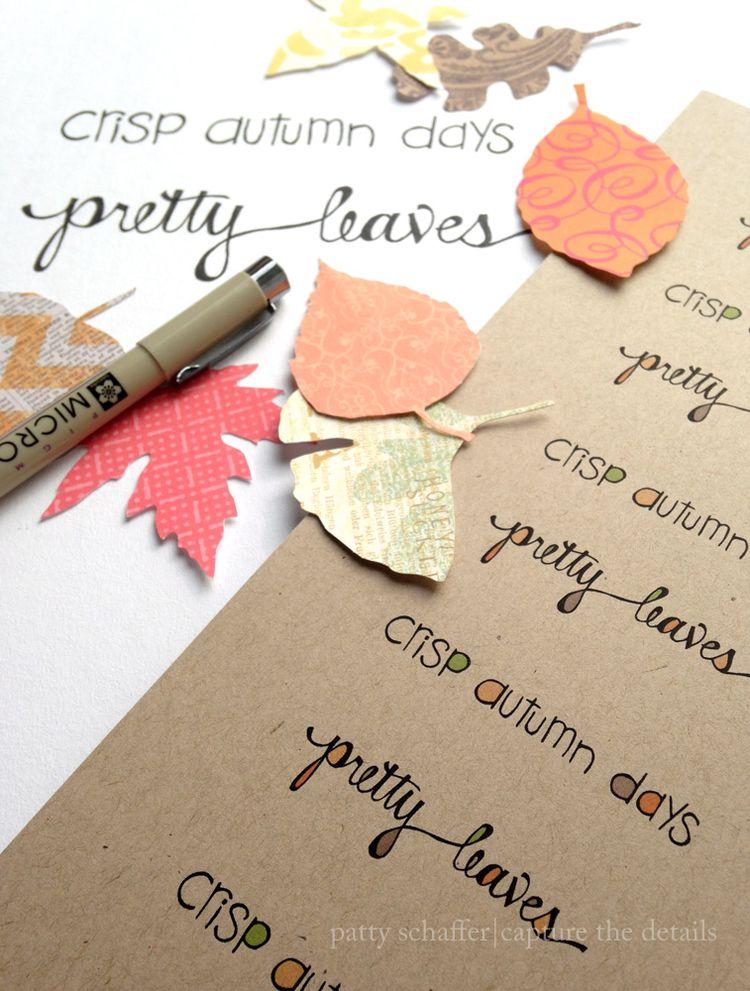 Crisp autumn days artwork blog