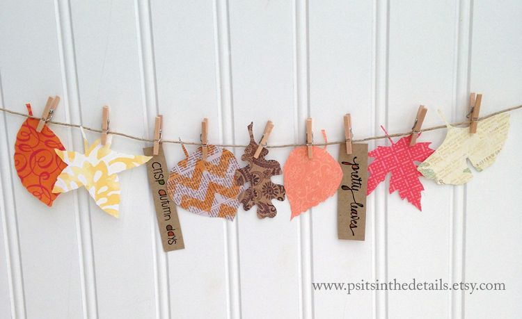 Crisp autumn days leaf garland etsy