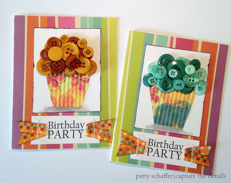 Cupcake party invitation design