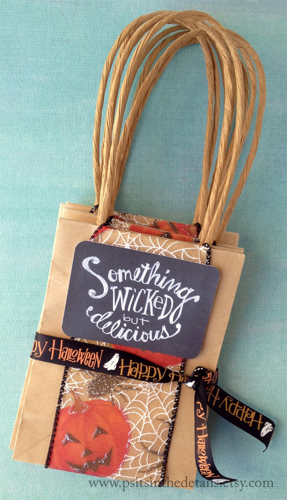 Wicked but delicious halloween treat bags packaging etsy