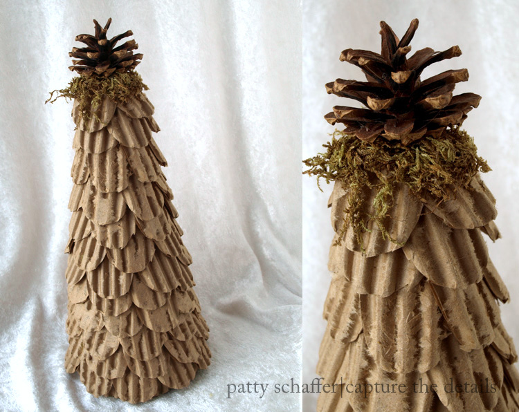 Corrugated cardboard topiary
