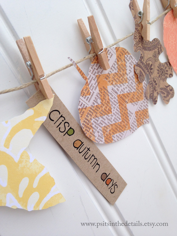 Crisp autumn days leaf garland detail etsy