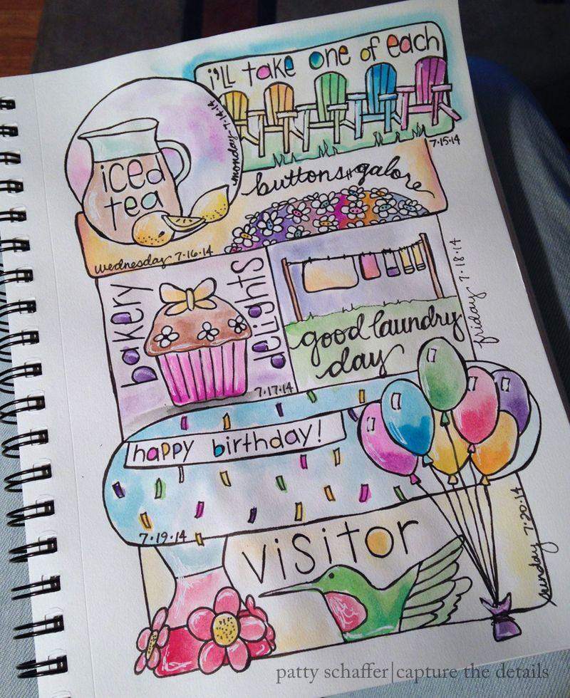 Week journal doodle