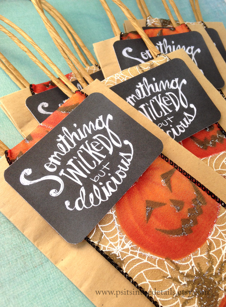 Wicked but delicious halloween treat bags etsy