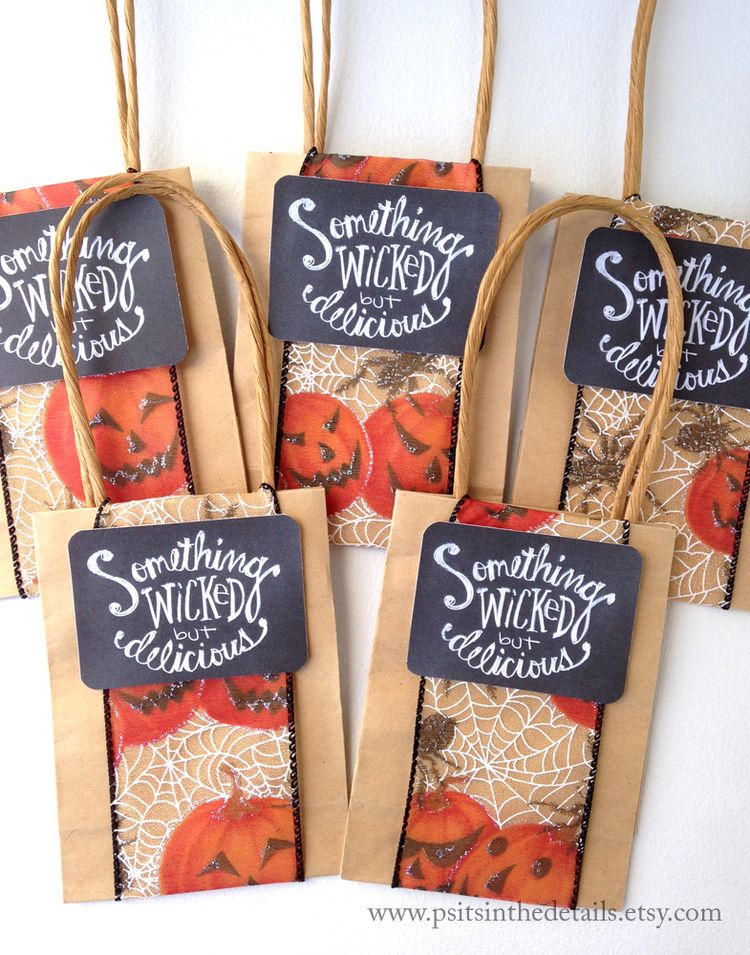 Wicked but delicious halloween treat bags 3 etsy