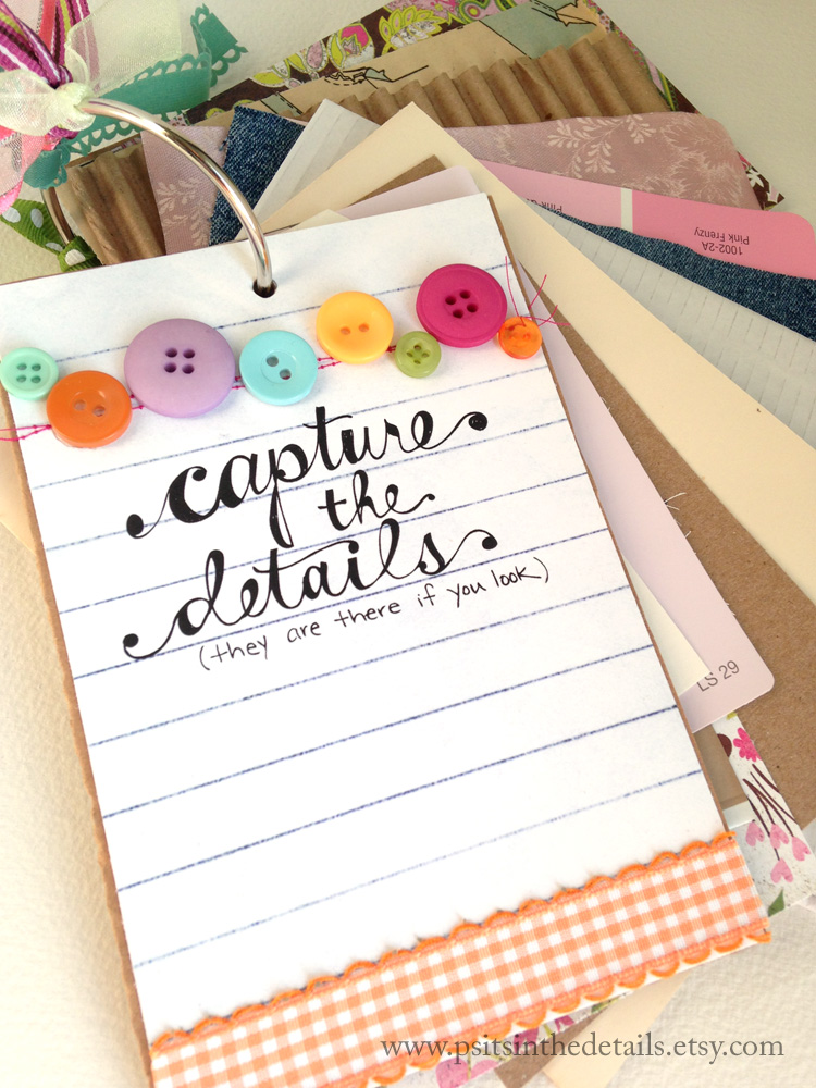 Capture the details mini album front view etsy