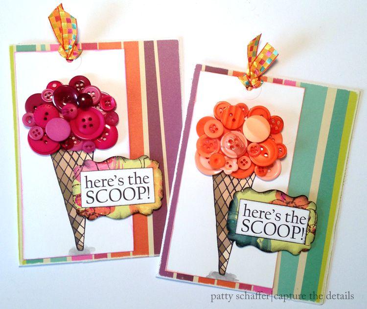 Ice cream cone party invitation design