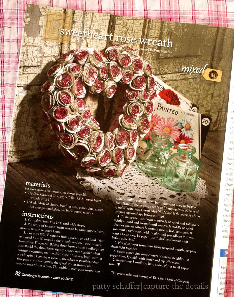 Paper roses wreath